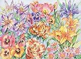Reeves Buntstifte Blumen Malen nach Zahlen, Malpappe, Mehrfarbig, 39.6x33x0.8 cm