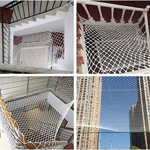Kindersicherheitsnetz, Terrassen Und Treppengeländer for Kinderschutznetze, Safe Rail Net for Kinder/Haustiere/Spielzeug, Robustes Netzgewebe, Weiße Farbe (Color : 5MM, Size : 2 * 4M)