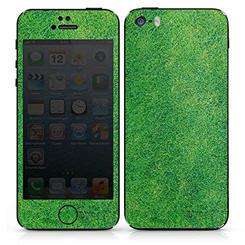 Apple iPhone SE Case Skin Sticker aus Vinyl-Folie Aufkleber Gras Rasen Grashalme DesignSkins® glänzend
