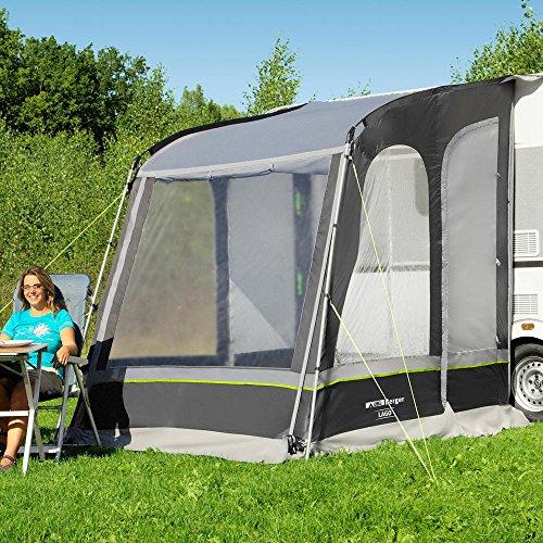 Berger Reisevorzelt Lago grau WS 3000 mm Teilvorzelt für Wohnwagen und Caravan Anbauhöhe bis 200cm