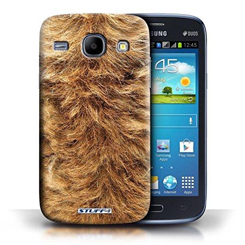 Coque en plastique pour Samsung Galaxy Core Collection Motif Fourrure Animale - Zèbre chien