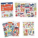Boxclever Press Busy Days Planersticker, Scrapbook Sticker. Goldfolie-, Vinyl- und gepolsterte Aufkleber für Planer & Bullet Journals (Familie)