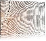 Mächtiger Baumstamm mit Jahresringen Schwarz/Weiß, Format: 120x80 auf Leinwand, XXL riesige Bilder fertig gerahmt mit Keilrahmen, Kunstdruck auf Wandbild mit Rahmen, günstiger als Gemälde oder Ölbild, kein Poster oder Plakat