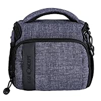K&F Concept® Camera Handbag DSLR Camera Case Bag Waterproof Nylon Shoulder Messenger Bag for One Camera + One Lens Canon Nikon Olympus Pentax Sony Samsung Digital Camera Light Grey Color(6.69*4.72*5.91�?�) with Rain Cover
