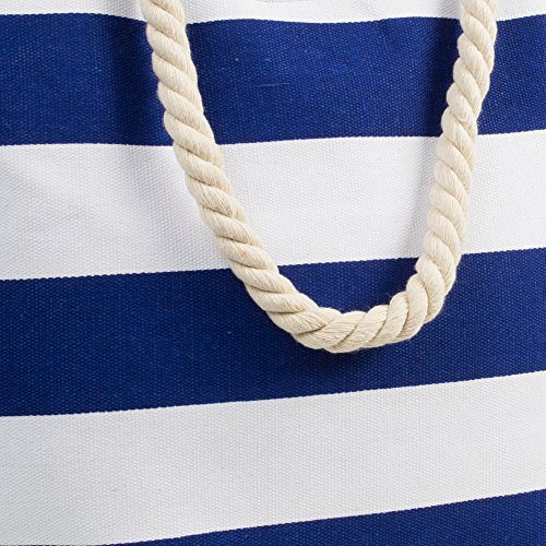K.B. Barrow - Sacchetto donna Navy and White Stripe