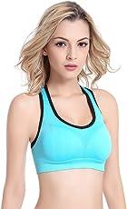 High Impact Reggiseno Sportivo Donna Elasticizzato Canottiera di Allenamento Yoga Fitness Jogging Racerback Sports Bra