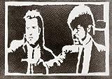 Pulp Fiction Handmade Street Art - Artwork - Poster