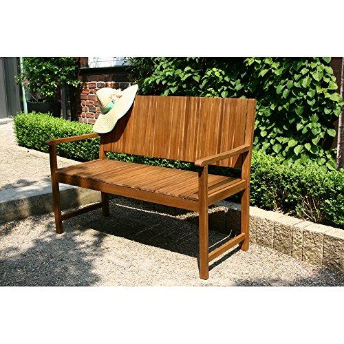 Siena Garden 2er Bank Falun, 59x122x90cm, Akazienholz, geölt in natur, FSC 100% - 6
