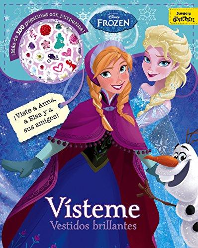 Frozen. Vísteme. Vestidos brillantes: Adhesivos con purpurina (Disney. Frozen) por Disney