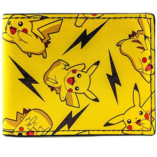 Cartera de Pokemon Pikachu chispa del rayo Amarillo