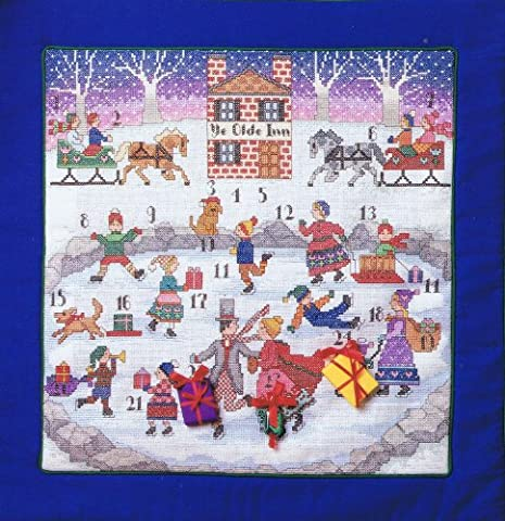 Advent Kalender Weihnachten Kreuzstich Diagramm Muster von Anchor (Das Diagramm)
