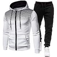 Berrywho Autunno 2 Pezzi Sportwear Set Uomo Abbigliamento Uomo Felpe Casual + Pants 3D Stampato con Cappuccio Mens Tuta