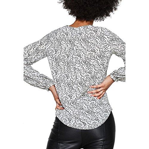 EspritBlouses Femmes - 018EO1F001 BLANC/ROUGE