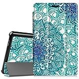 Fintie Huawei Mediapad T3 8 Hülle Case - Ultra Dünn Superleicht SlimShell Ständer Cover Schutzhülle Tasche mit Zwei Einstellbarem Standfunktion für Huawei T3 20,3 cm (8,0 Zoll), Smaragdblau