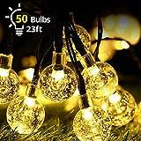 Catena Luminosa Esterno Solare, Catene di Luci Stringa con 50 LEDs, 7 Metri Luci Decorative Impermeabile, Illuminazione per Giardino, per le Luci di Natale, Festival, Festa, Balcone