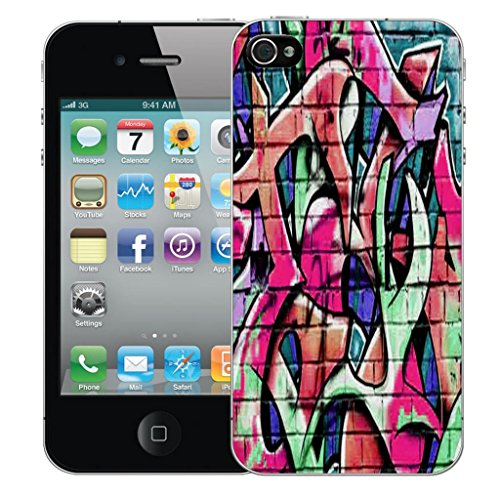 Mobile Case Mate iPhone 5 clip on Dur Coque couverture case cover Pare-chocs - jaune caress Motif wall grafitti pink