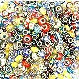 BeautyLife 40 X Bunt Vermischen Glas Beads Kristall Perlen Linayo®, Murano Glass Perlen
