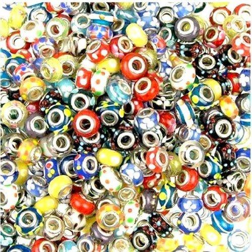 Linayo® Perline in vetro style Murano, 40 pc Colorato (Handcrafted Perle)