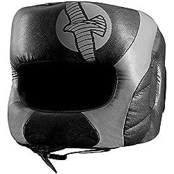 Hayabusa Fightwear Tokushu Regenesis Boxing Headgear - Black/Grey - One Size by Hayabusa