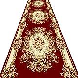 QiangDa Flur Teppich Läufer Langflor Teppiche Lang Schneidbar Europäischer Stil Waschbar Polypropylen Sanfte Berührung Kunststoffkörnerboden Rutschfest Kein Geruch, Dicke 6 mm