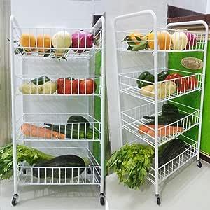 frutta e verdura verdura Generic d Storage per frutta Carrello da cucina con 4 ripiani