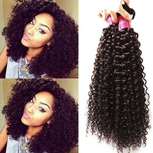 Extension de cheveux Cheveux Vierges brésiliens de Tissages Bouclés 3, 100% CHEVEUX humains brésiliens vierges (8 10 30,5 cm)