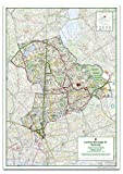 London Borough of Hackney Map - Size 84.1 x 118.9 cm