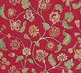 Möbelstoff DÜRER Blumenmuster Farbe Multicolor als robuster Bezugsstoff, Polsterstoff bunt geblümt zum Nähen und Beziehen, Polyester, Polyacryl