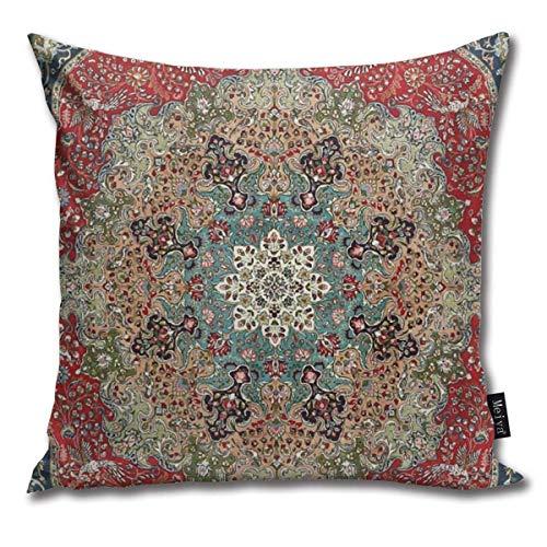 tyui7 Kissenbezug Antiker roter Blauer schwarzer Perserteppich-Druck Decor Throw Cushion Covers für Sofa und Couch 45x45 cm -