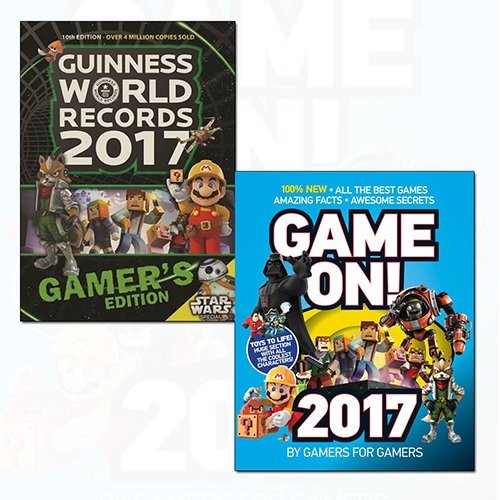 Guinness World Records 2017 Gamer's Edition and Game On! 2017 2 Books Bundle Collection with Gift Journal