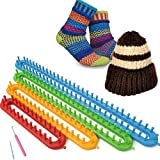 Strickrahmen-Set 6-teilig Strickring Knitting Loom Stricken Strickhilfe eckig