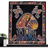 Psychedelische Pilze Mandala Tapisserie Indisch Ethnic Sonne Totem Wandteppiche Blätter Handtücher Tischdecken Yoga Matten Home Wand Dekoration