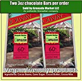 JOUVAY Cacao Pennini Aggiunto Chocolate Bar (60% di cacao Content) - 2 Bar @ 3,5 oz e bis - Prodotto di Grenada