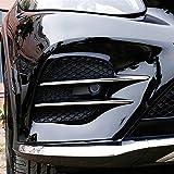 Accessoires pour voiture - En plastique ABS - Chromé - 4 bandes de grilles de prise d'air