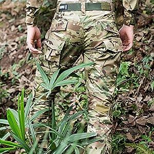 H Welt EU Pantalon militaire pour homme, pantalon avec genouillères pour jeux de stratégie, airsoft, paintball, tir, combat