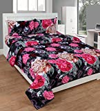 Slick 140 TC Polyester Double Bed Sheet ...