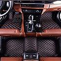 Mandlon Auto Fußmatten für Nissan X-Trail/Rogue 5 Sitz 2014-2017 Individuelle Passform All Wetter 3D Full Auto Teppiche Matten (schwarz mit roten Nähten)