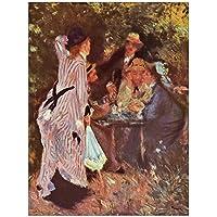 ArtPlaza Panel Decorativo-Renoir Pierre Auguste In the Garden Bower of Moulin de la Galette, Madera, Multicolor, 60x1.8x80 cm