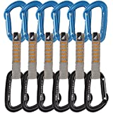 Fusion Fusion Climb Contigua Ultra-Light Straight Gate Caribiners Quickdraw 6 Pack ST/ST-11CM