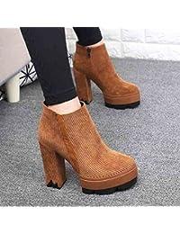 cff4585bd2d SDKIR-Martin botas invierno coreano super unos botines de tacon alto y  desnuda botas impermeable