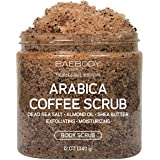 Baebody Coffee Scrub: Best for Acne, Stretch Marks, Wrinkles. With Dead Sea Salt, Olive Oil, and Shea Butter. Natural Exfoliator, Moisturizer Promoting Radiant Skin 12oz.