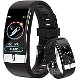 DigiKuber Temperatura Corporea Activity Tracker, Uomo Donna IP68 Impermeabile Smartwatch Orologio Contapassi Braccialetto Con
