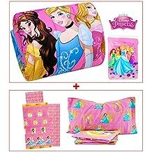 Trapunta + completo lenzuola 3 pezzi PRINCESS Disney coordinato letto singolo - Flanella Bambino Coperte