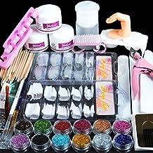 Coscelia Manicura Kit de Herramientas Acrílico Polvo Uñas Postizas Brillo del Polvo de Uñas Acrílico Arte Set