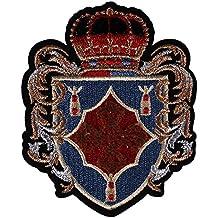1 pieza de insignias de hombro corona de caballo bordado parches de tela hierro sobre chaqueta adornos decorados accesorios de costura A