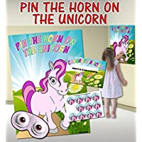 Pin the Horn on the Unicorn (Pin the tail on the donkey style game)