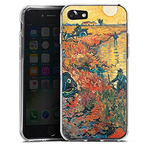Apple iPhone X Silikon Hülle Case Schutzhülle Vincent van Gogh Red Vineyards at Arles Kunst Silikon Case transparent