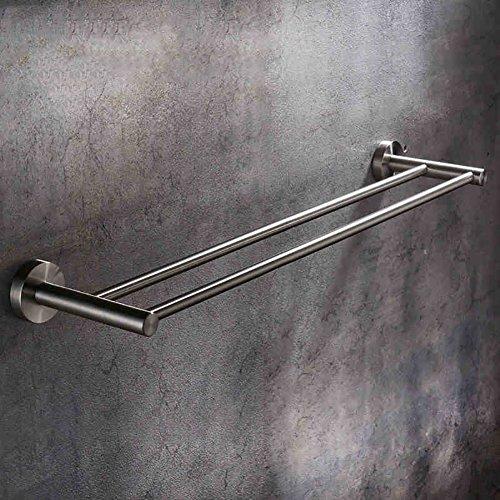 Wand Regal Metall Rod (GYMMJ Handtuchständer handtuchstange Handtuch Bar/Double Rod Edelstahl verdickte Bad Handtuch Bar Wand-Bad Regale handtuchhalter Wand (größe : 80cm))