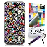 CASEiLIKE Graffito 2703 Ultra Sottile paraurti custodia for Apple iPhone 6 / 6S (4.7 inch) +Protector de Pantalla+Penne stilo a scomparsa (colore casuale)