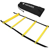 Navaris Scala per Allenamento Calcio 6m - scaletta per Fitness Training Speed Agility Ladder - Scala per Esercizi…